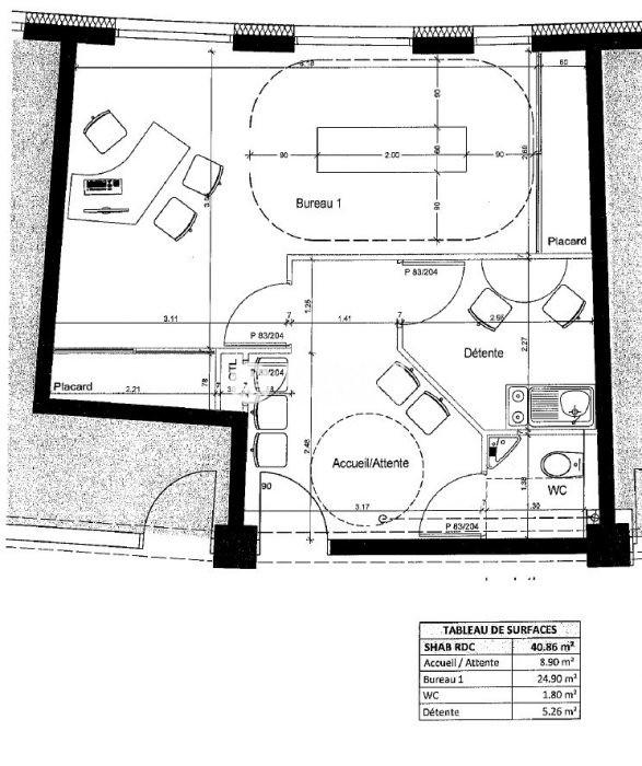 Louer Bureau Bureau, La Roche-sur-Yon 42 m2 - LP776-DURET